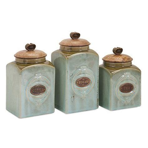 ceramic canisters for the kitchen crafted ceramic kitchen canisters set of 3