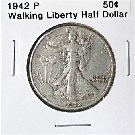 walking liberty half dollar 1942 p walking liberty half dollar for sale buy now online item 175599