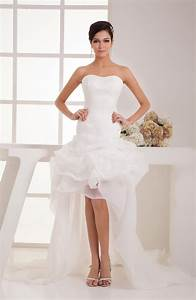 Short bridal gowns inexpensive unique low back backless for Cheap unique wedding dresses