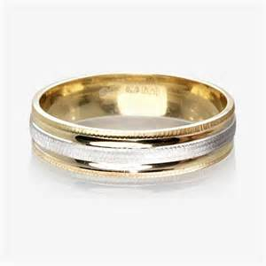 gold wedding band sets 9ct gold 2 colour luxury weight wedding ring 4 5mm