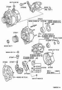 2004 Toyota Tacoma Bolt For Alternator   Engine