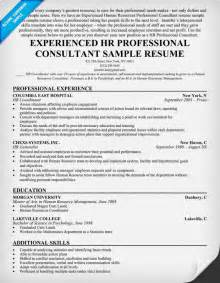 resume format for experienced it professionals sle cover letter sle resume experienced professional