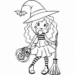 Dessin D Halloween Facile : coloriage d 39 halloween 1 la petite sorci re ~ Dallasstarsshop.com Idées de Décoration