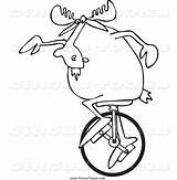 Unicycle Clipart Moose Circus Template Djart Clipartmag Coloring Sketch sketch template