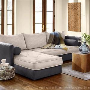 eco linen sectional sleeper sofa with chaise lounge With eco sectional sleeper sofa
