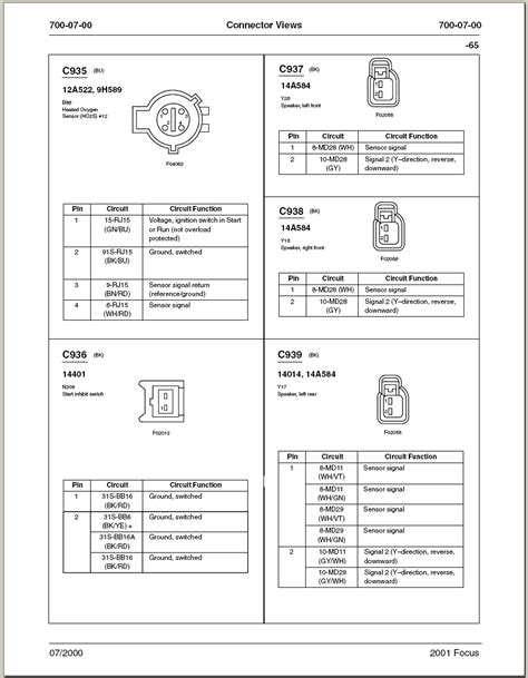 Need Wiring Diagram For Ford Focus With Radio