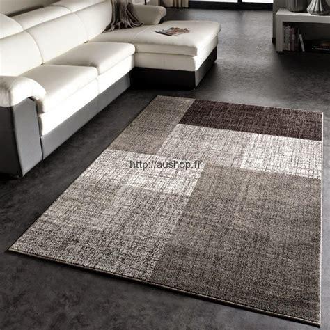 tapis salon moderne gris pas cher tendance tapis deco