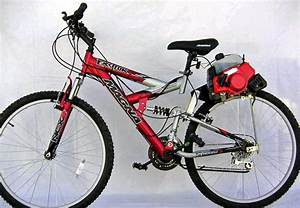 Gas Motorized Bicycle 2 Cycle 40cc Tire Roller Drive Rear