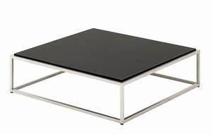 Table Basse 100x100 : table basse cloud de gloster 100x100 noir ~ Teatrodelosmanantiales.com Idées de Décoration