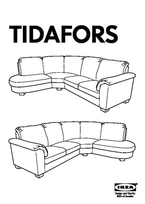 ikea tidafors sofa assembly tidafors corner sofa with arm left hensta gray ikea