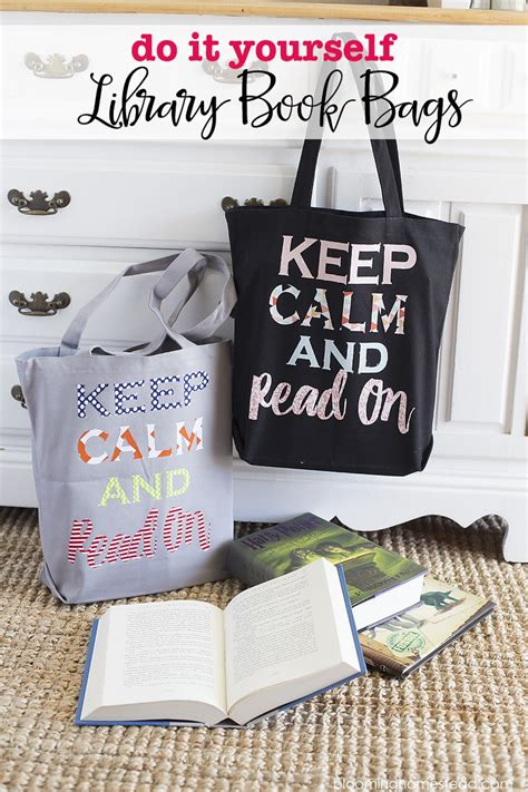 diy library book bags lil luna