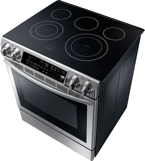 drop in electric ranges with downdraft samsung 5 8 cu ft slide in electric range stainless