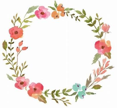 Watercolor Flower Transparent Ring Prayer Graphics Wreath