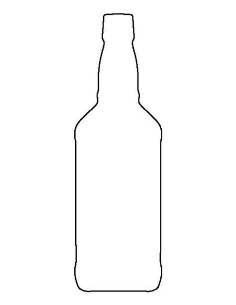 bottle template whiskey bottle pattern use the printable outline for crafts creating stencils scrapbooking