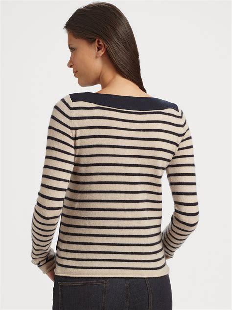 burch sweater lyst burch owen striped sweater in black