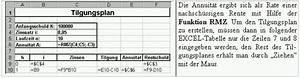 Tilgungsplan Berechnen : schuldtilgung mit excel vba ~ Themetempest.com Abrechnung