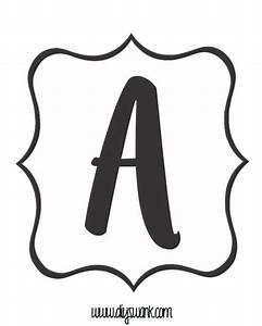 free printable black and white banner letters black With black and white letter pictures