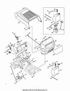 Mtd 13w1762f065  2011  Parts Diagram For Hood Style 2