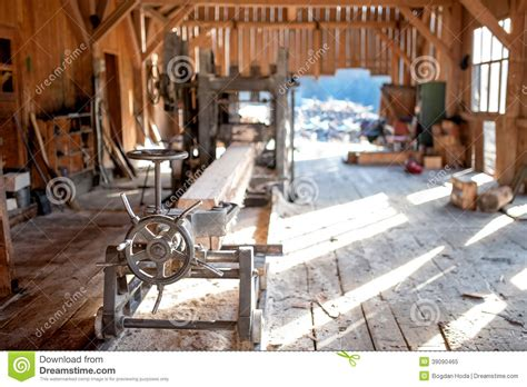 industrial wood production factory general view stock