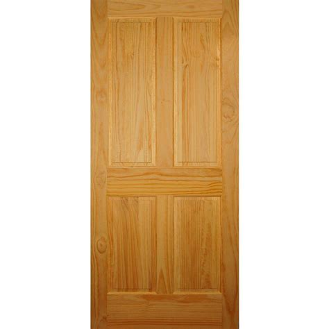 home depot prehung interior doors builder 39 s choice 36 in x 80 in 4 panel solid pine