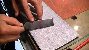 Affutage Ciseau A Bois : affutage au papier de verre youtube ~ Dailycaller-alerts.com Idées de Décoration