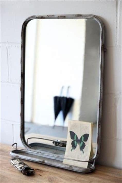 Industrial Bathroom Mirror With Shelf by Design Sleuth 5 Bathroom Mirrors With Shelves Mirror