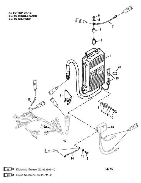 2002 Mercury Spark Wiring Diagram by E C U Assembly For Mariner Mercury 150 175 200 Efi