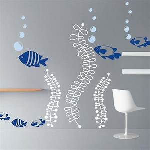 Wall decal inspiring beach themed wall decals beach for Beach wall decals