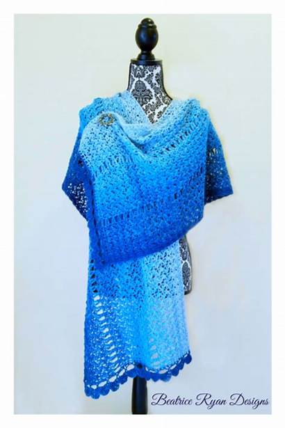 Crochet Winter Shawl Walk Pattern Shawls Ravelry
