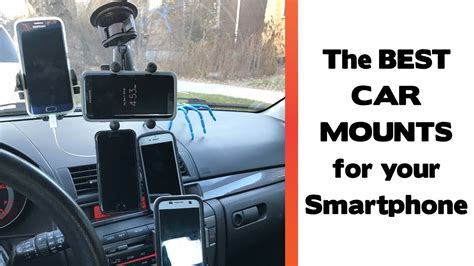 the best place to mount your smartphone in your car car mount review 2017 youtube