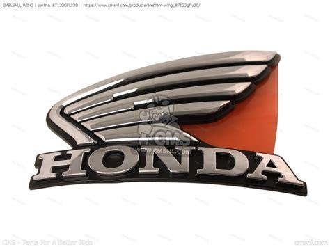 87122gfly20 Emblem,l Wing Honda