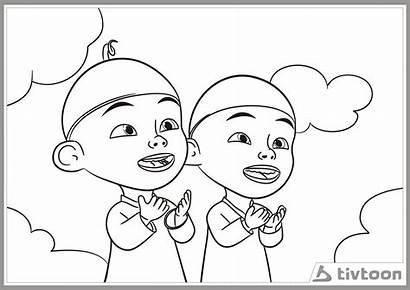 Upin Mewarnai Ipin Gambar Coloring Boboiboy Anak