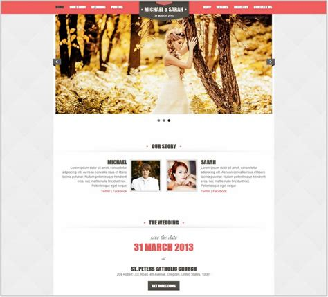 wedding php website templates themes