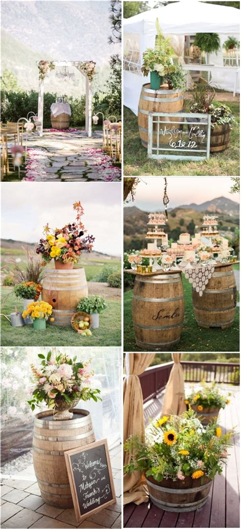 Another Rustic Wine Barrels Wedding Decor Ideas Deer