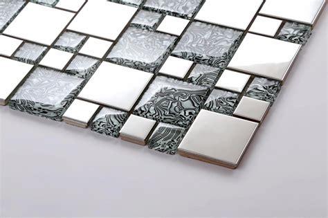 1 square metre metallic random mix brushed steel silver