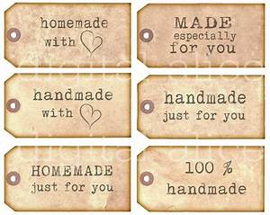 homemade handmade tags product labels instant download With diy product labels