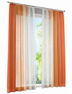 Vorhänge Mit Kräuselband : orange transparente gardinen vorh nge und weitere gardinen vorh nge g nstig online kaufen ~ Watch28wear.com Haus und Dekorationen