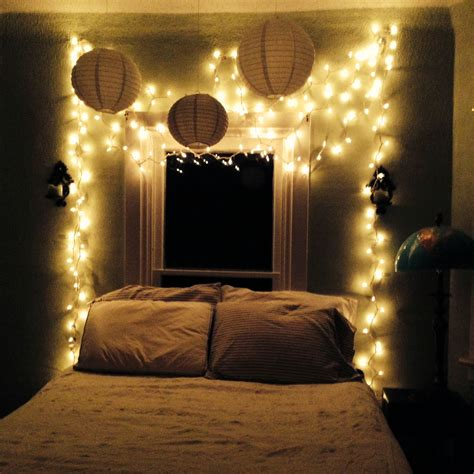 bedroom oasis twinkle lights white  stripes