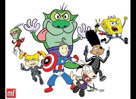Nickelodeon Characters As The Avengers. Invader Zim As
