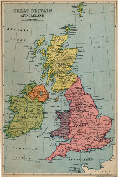 map  great britain  ireland