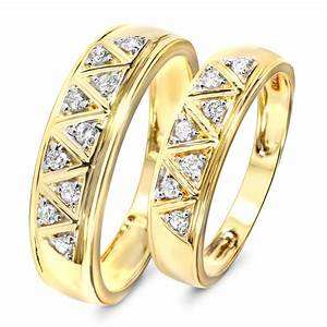 13 Carat TW Diamond His And Hers Wedding Band Set 10K