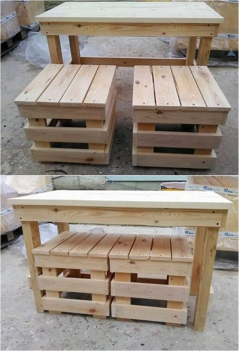 cool   build  wood pallets rustic side table