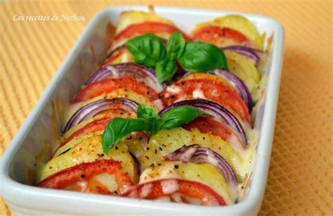 recette tian de pommes de terre tomates  oignons