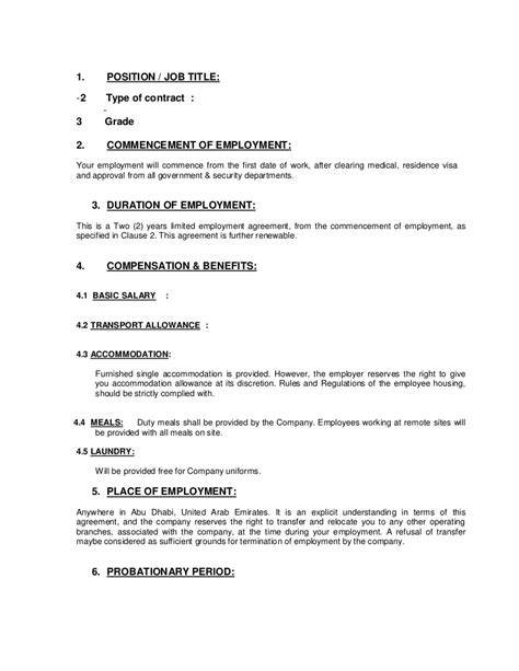 Letter Of Employment With Probationary Period - Probation Period Letters