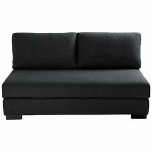 banquette modulable 2 places en lin anthracite terence With tapis de course avec banquette canapé modulable