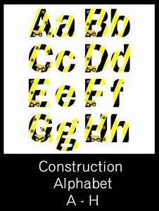 construction alphabet letters free pdf download party With construction alphabet letters