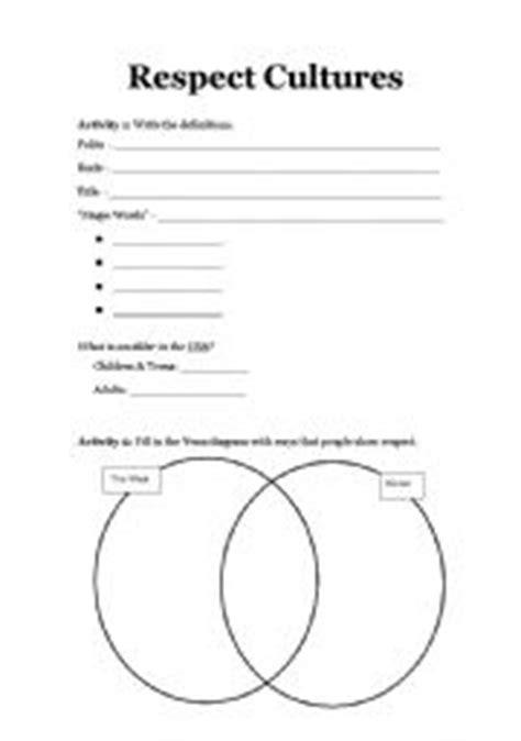 worksheets respect cultures