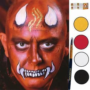 Maquillage Halloween Garçon : maquillage enfant maquillage diable ~ Melissatoandfro.com Idées de Décoration