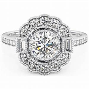 glorious silver engagement ring With art deco style wedding rings