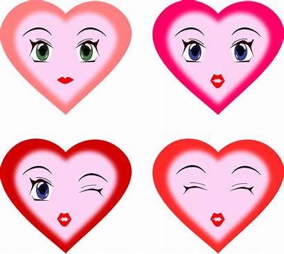 Heart Face Faces Clipart Smiley Hearts Smiling